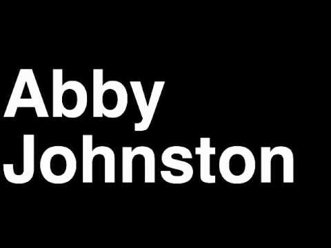 How to Pronounce Abby Johnston USA Silver Medal Synchronized 3M Diving London 2012 Olympics Video