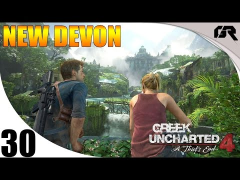 Uncharted 4 A Thief's End Greek Let's Play #30 - New Devon