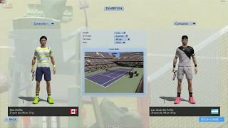 Full Ace Tennis Simulator - Juan Martín Del Potro vs Milos Raonic - Dificultad Real Life