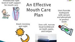 Supporting daily mouth care for older adults