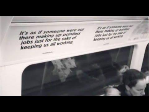 'Bullsh*t jobs' posters on the Tube