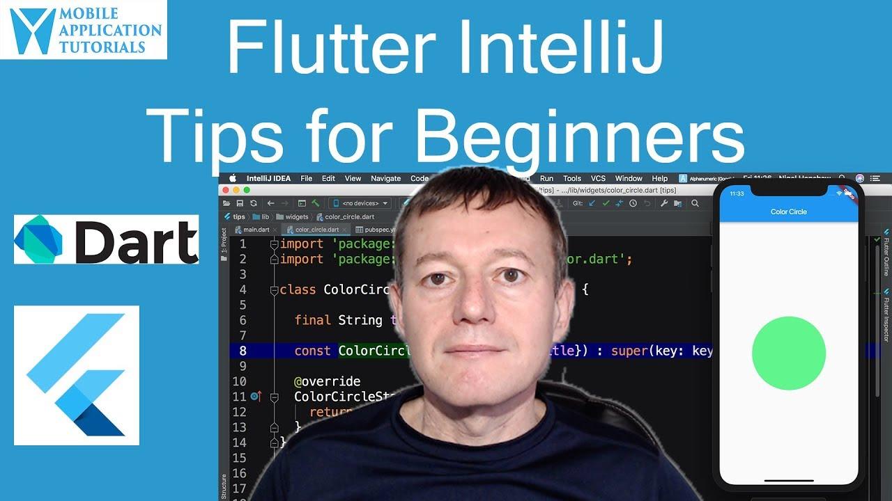 Flutter IntelliJ IDEA tips for beginners