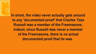 "Alleged ""Documented Proof"" That Charles Taze Russell Was a Freemason"