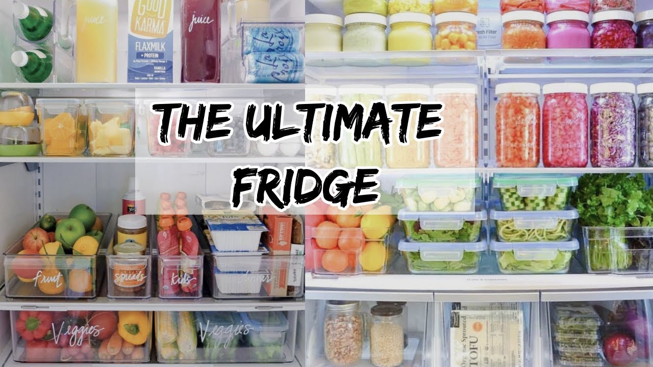 HOW TO CREATE THE ULTIMATE ORGANIZED FRIDGE