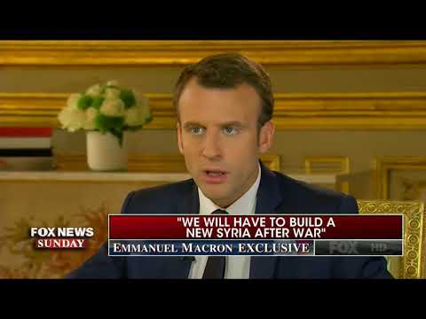 EMMANUEL MACRON FULL INTERVIEW WITH CHRIS WALLACE - FOX NEWS SUNDAY (4/22/2018)