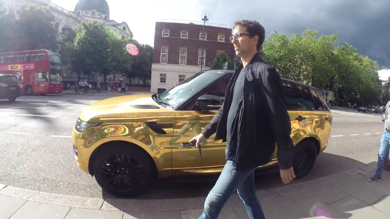 Pimped Range Rover Sport >> Golden Range Rover - YouTube
