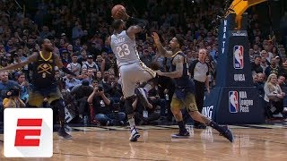 LeBron James absolutely takes over late in fourth with four ridiculous buckets vs. Nuggets   ESPN