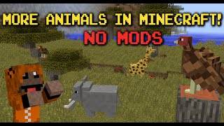 Vanilla Minecraft: More Animals! - Lions, Rhinos, Giraffes & more!