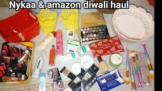 Nykaa & Amazon Diwali sale   haul || shystyles