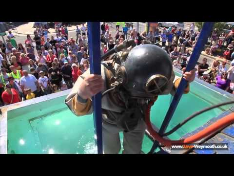 Diving Display at Weymouth Harbour by The Historical Diving Society
