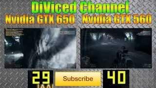 GTX 650 VS GTX 560 BF4 TEST ULTRA SETTINGS
