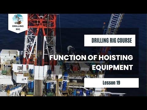 19 Function Of Hoisting Equipment | Drilling Rig