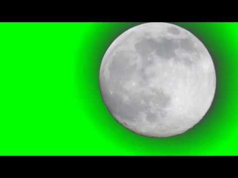 Real Moon Footage (green screen) thumbnail