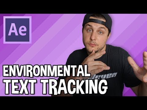 Tracking and Environmental Text - Adobe After Effects Tutorial thumbnail