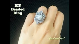 Starry Beaded Ring.DIY Beaded Ring