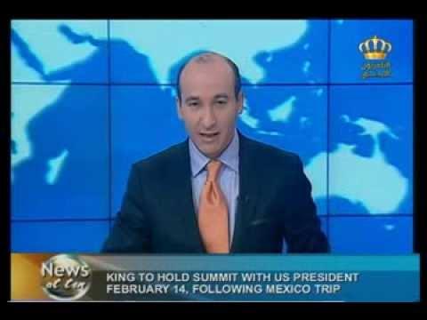 English News at ten in Jordan Television 30-01-2014