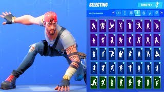 GUILD SKIN SHOWCASE WITH ALL FORTNITE DANCES & EMOTES