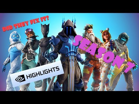 FORTNITE SEASON 7 Nvidia highlights button FINALLY FIXED BY EpicGames???