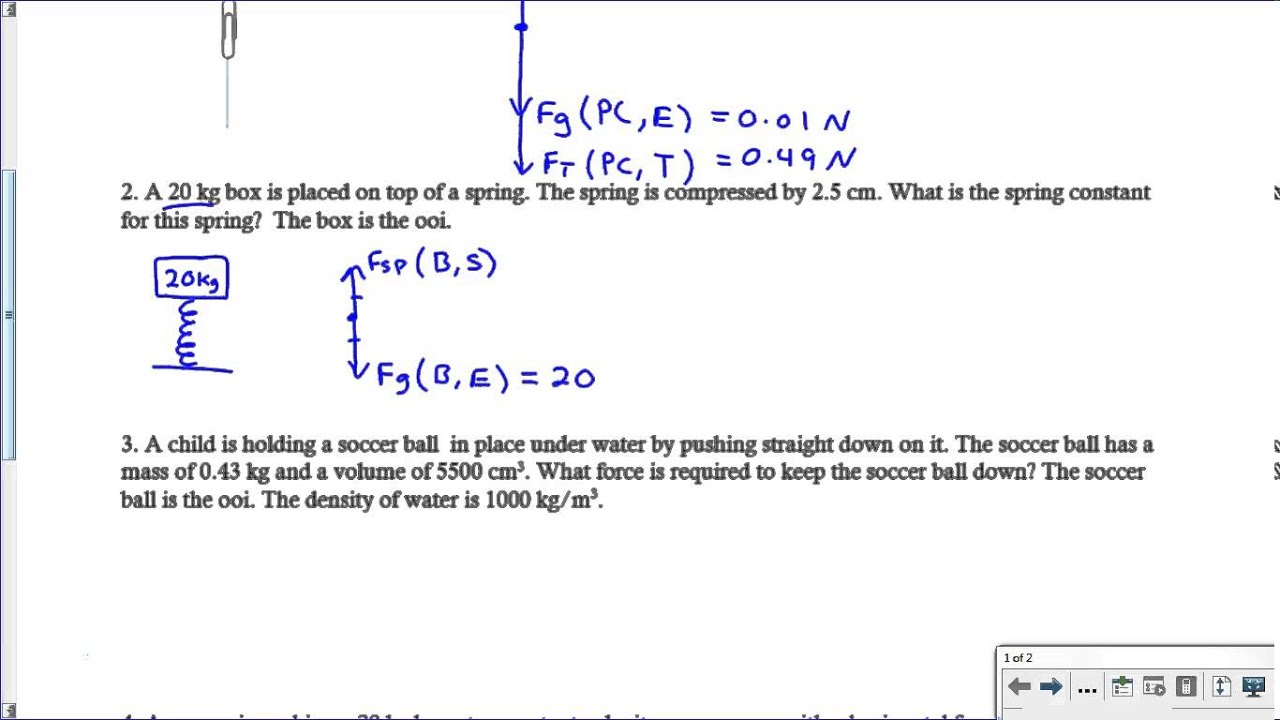 Worksheet Free Body Diagram Hate Mysql For On Freebody Diagrams Quantitative Force With Equations Key Youtube