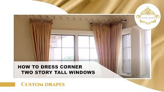 Video #7: Tall Window Curtain Design | Crystal Drapery Hardware | Swarovski Crystal Elements