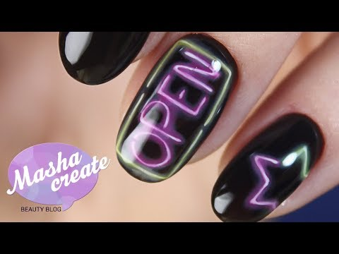 Неоновые ногти дизайн
