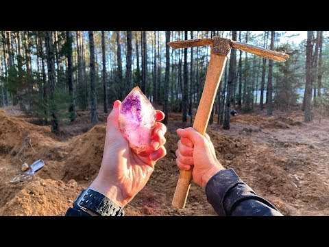 Found Rare Amethyst Crystal While Digging at Purple Heart Mine! (Unbelievable Find)