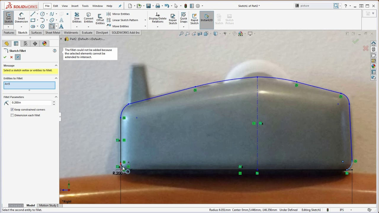 19 SolidWorks – How to - Use Sketch Picture to Create an Accurate Sketch  for your Base Feature
