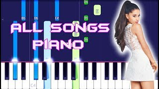 "Ariana Grande Pianohits & Tutorial (All Songs From ""Thank U Next"")"
