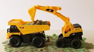 Construction trucks for kids toy excavator bulldozer dump truck surprise toys Roblox PJ Masks