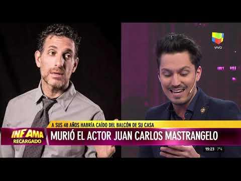 Dolor por la del actor Juan Carlos Mastrángelo
