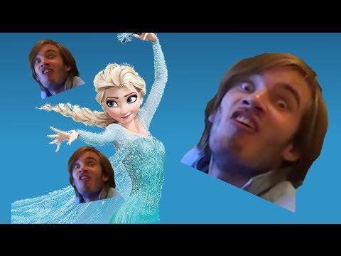 YTP Elsa Gives PewDiePie Her Brain YouTube