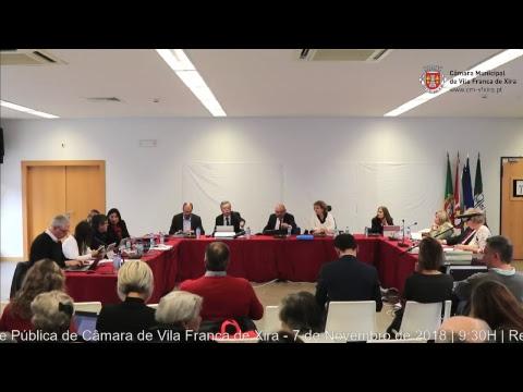 Reunião ordinária e pública da CMVFX (07/11/2018 - Castanheira do Ribatejo)