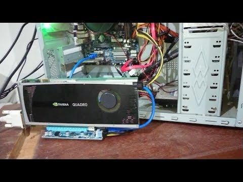EGPU Funciona Em Desktop ??? NVidia Quadro 4000 Esterna
