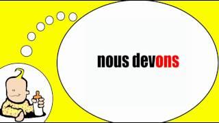 Parlo francese = Il verbo = dovere = al tempo presente