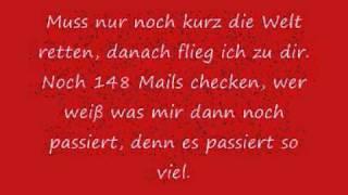 Tim Bendzko - Nur noch kurz die Welt retten (Lyrics german+english)