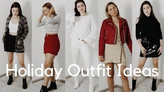 6 HOLIDAY OUTFIT IDEAS | Thanksgiving, Black Friday Shopping, Christmas Party & More!