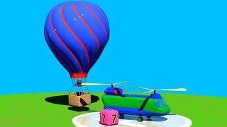 3D Мультик Конструктор: Аэропорт. Большая сборка: Собираем Воздушный шар! Для самых маленьких
