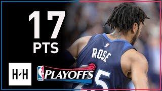 Derrick Rose Full Game 3 Highlights Wolves vs Rockets 2018 Playoffs - 17 Points!