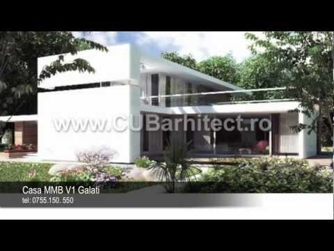 Case moderne - proiecte arhitectura | Model casa MMB V1 Galati ...