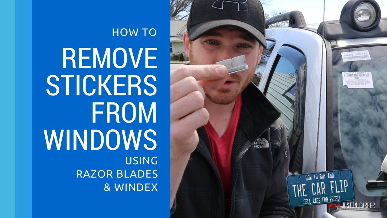 How To Remove Stickers From Car Window >> How To Remove Stickers From Auto Glass With Razor Blades