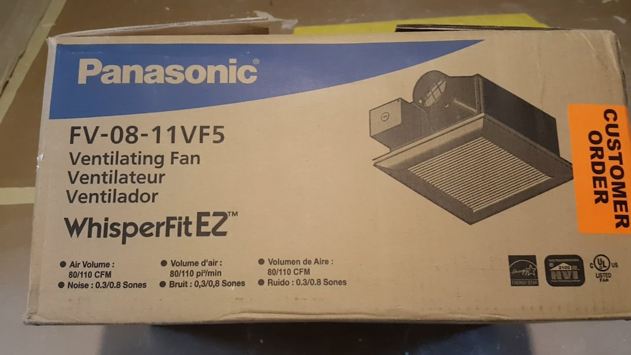 Panasonic FV-08-11VF5 Low Profile WhisperFitEZ Fan