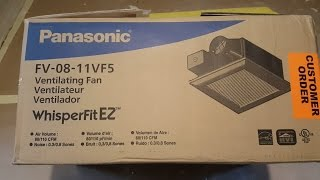 How to install / replace old fan to super quiet Panasonic FV-08-11VF5