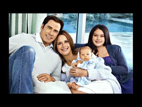 actor john travolta and his wife actress Kelly Preston and Children