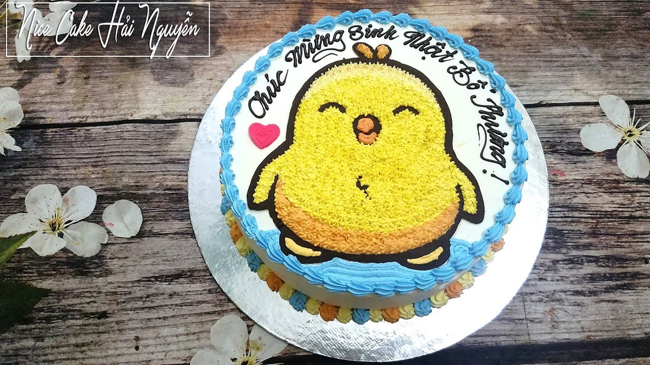 Cách Vẽ Hình Lên Bánh Sinh Nhật Cực Đơn Giản – Easy Way to Draw Image on Cake