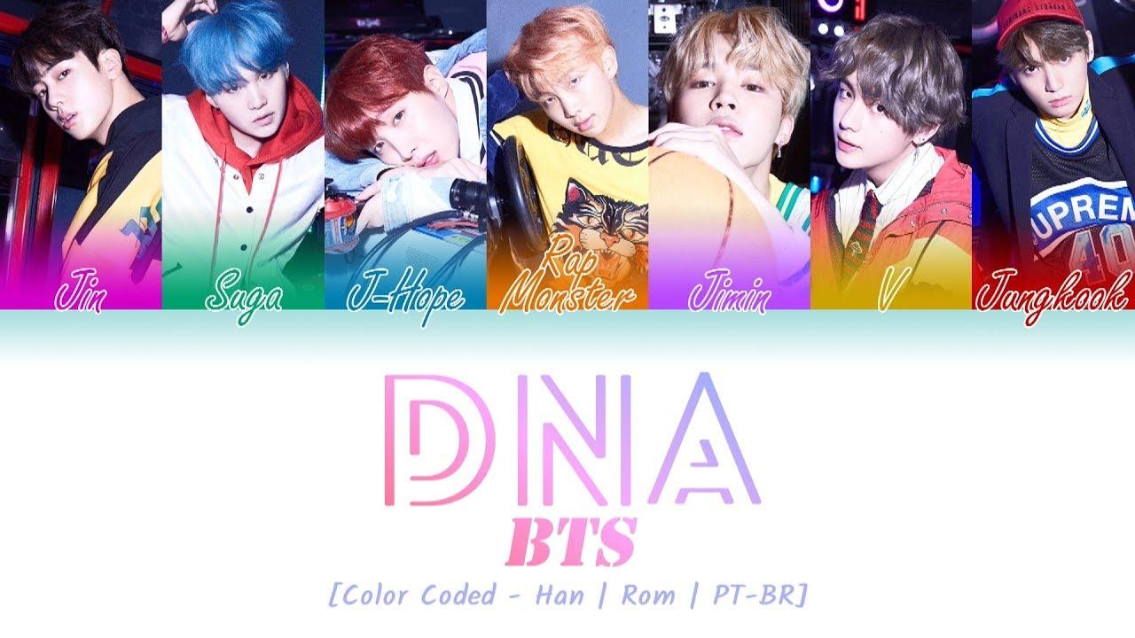 BTS - DNA (Lyrics {Hangul/Romanization/PT-BR}) - YouTube