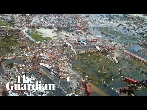 Hurricane Dorian: aerial footage shows Bahamas destruction