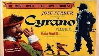 Recreating his stage role, jose ferrer stars as edmond rostand's cyrano, a 17th-century french cavalier, poet and swordsman whose prominent proboscis is the ...