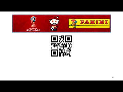 Panini Sticker Album - World Cup 2018 - 87 QR Codes