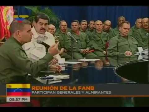 Presidente Nicolás Maduro en reunión con la FANB, 8 de noviembre 2017