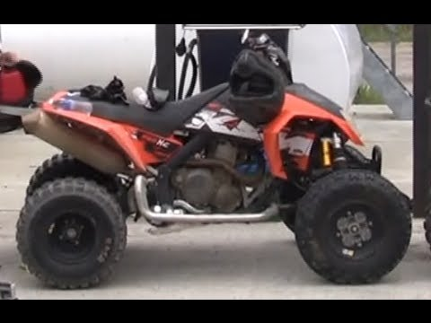 KTM 525 XC Quad Test Rip - YouTube